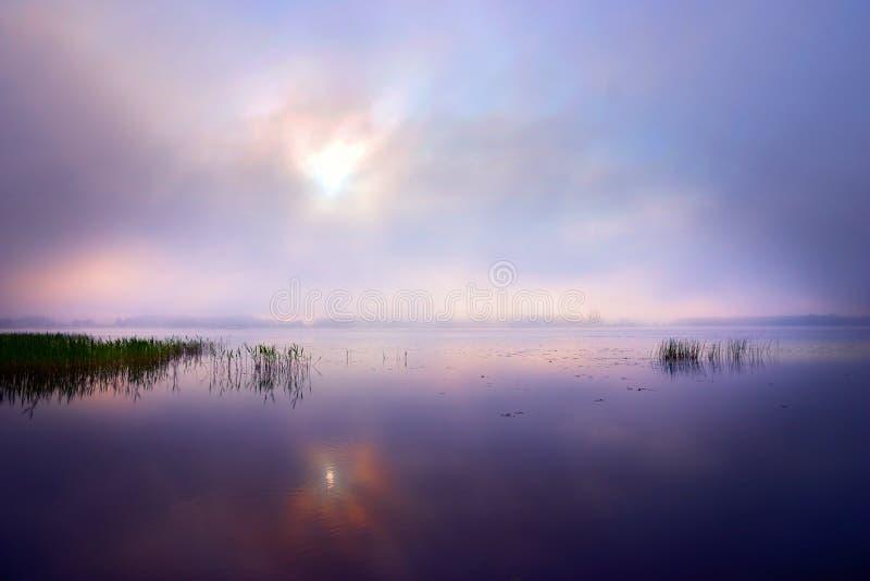 Alba sopra il lago immagine stock libera da diritti
