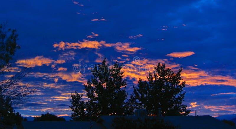 Alba sopra il New Mexico fotografia stock