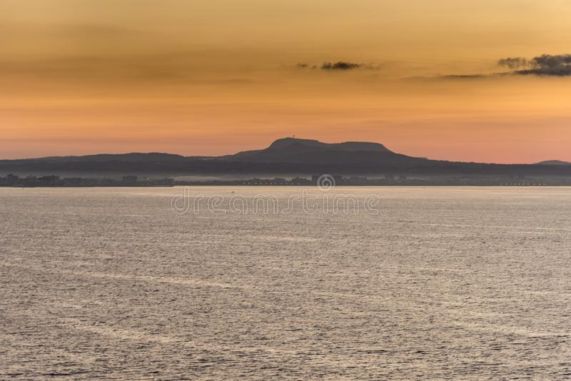 Alba sopra Palma Bay dalla regina Elizabeth fotografia stock libera da diritti