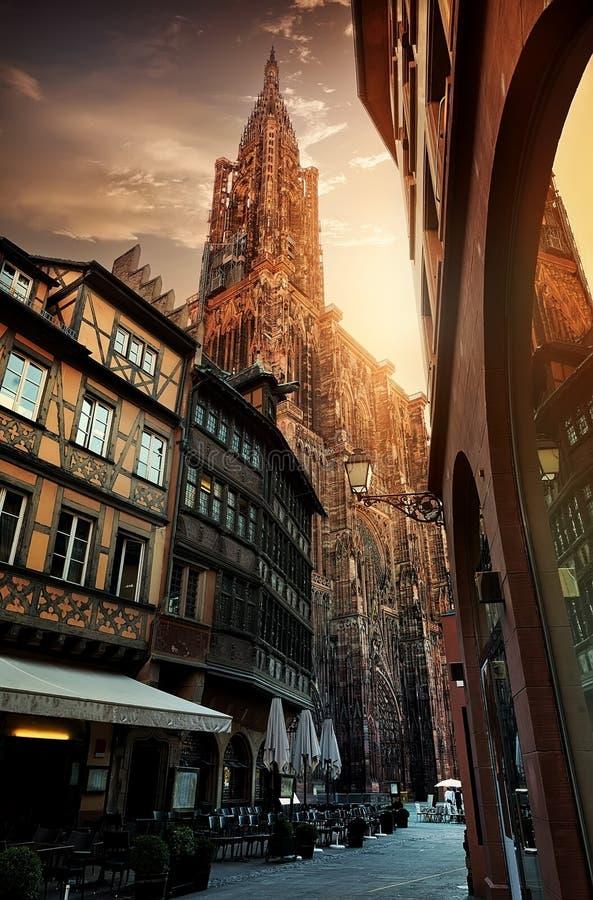 Alba a Strasburgo immagine stock