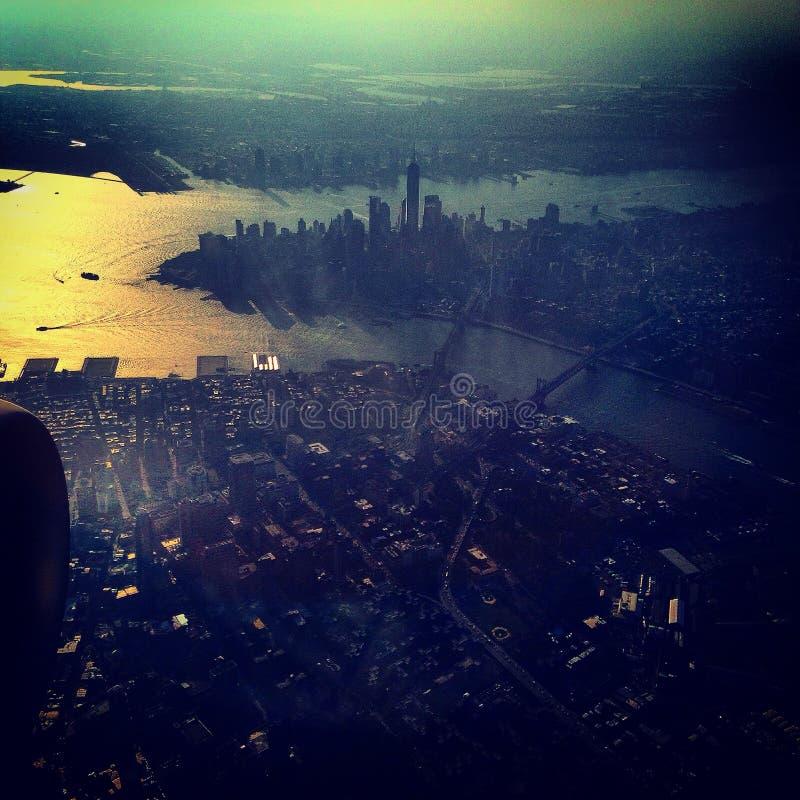Alba su New York immagine stock libera da diritti