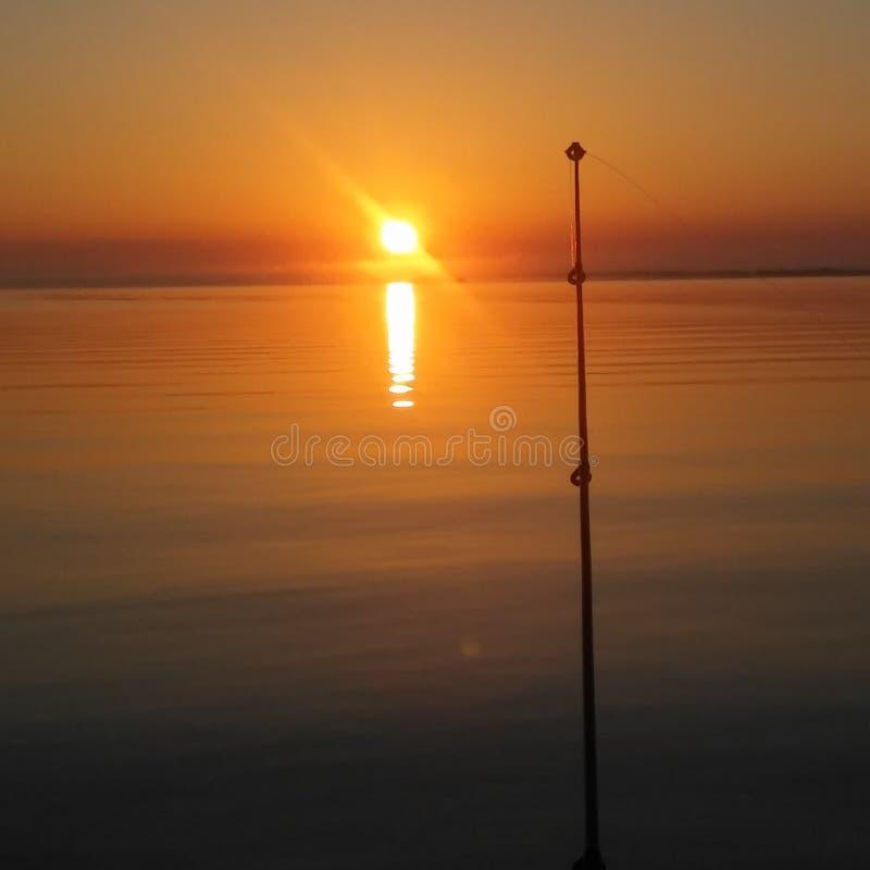 Alba su un fiume di Florida fotografie stock libere da diritti