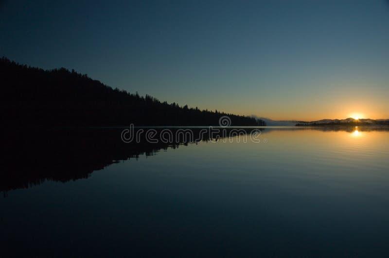 Alba sul lago leigh fotografie stock libere da diritti