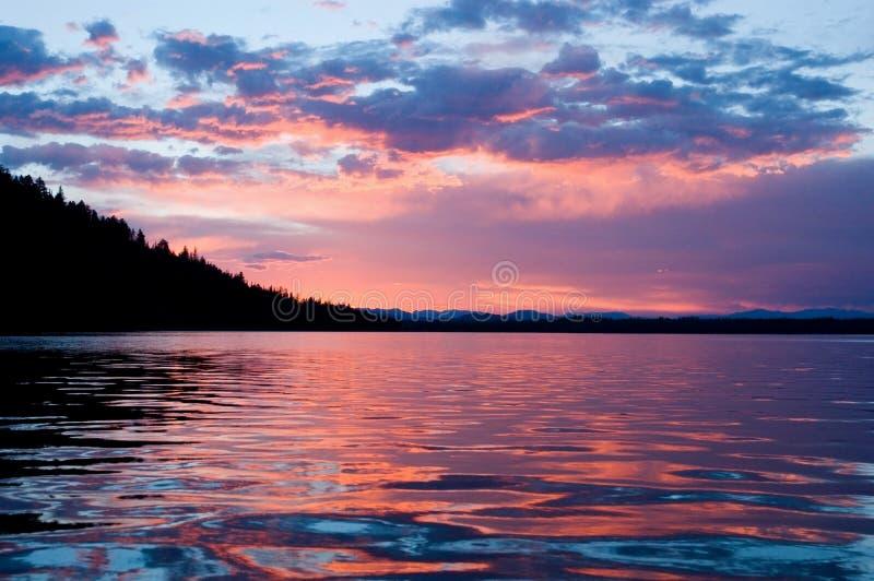 Alba sul lago leigh fotografie stock