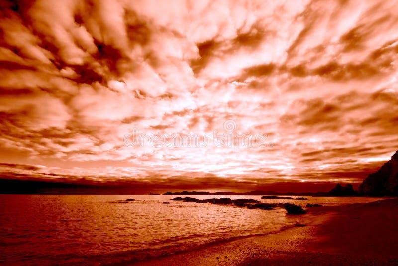 Alba sul litorale immagini stock libere da diritti