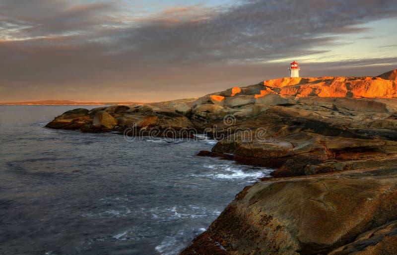 Alba sul litorale atlantico immagini stock
