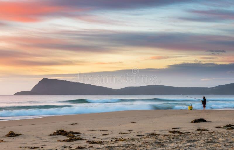 Alba sull'isola di Bruny, Tasmania fotografie stock