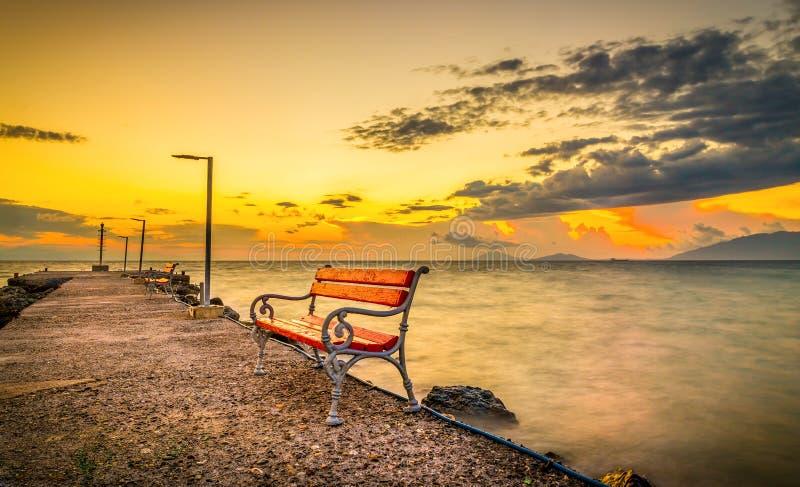 Alba sull'isola di Kos fotografia stock libera da diritti
