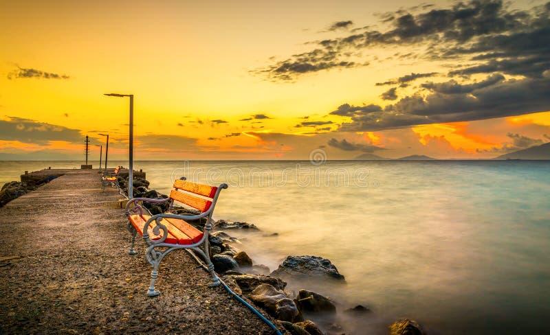 Alba sull'isola di Kos fotografia stock