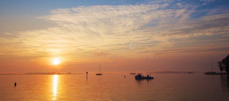 Alba sulla baia di Chesapeake fotografie stock libere da diritti