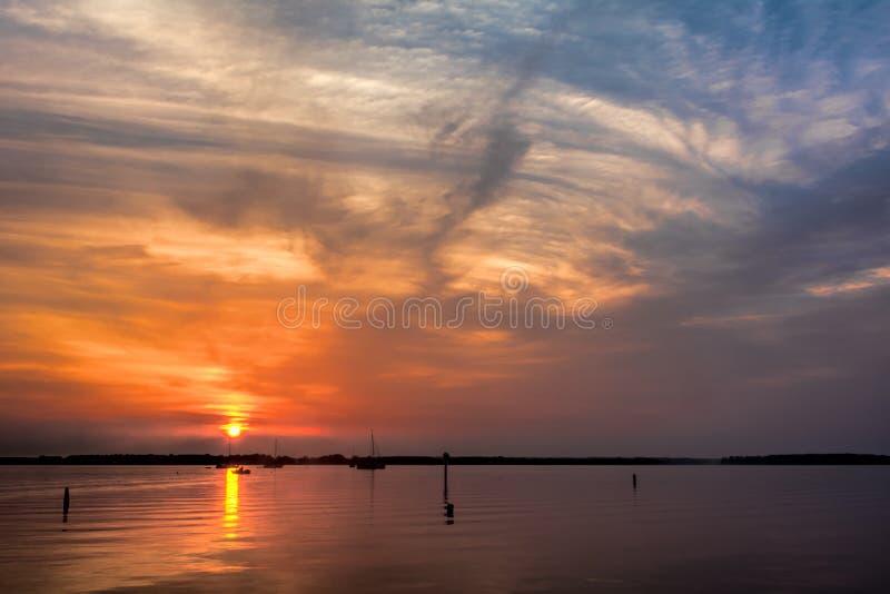 Alba sulla baia di Chesapeake fotografie stock