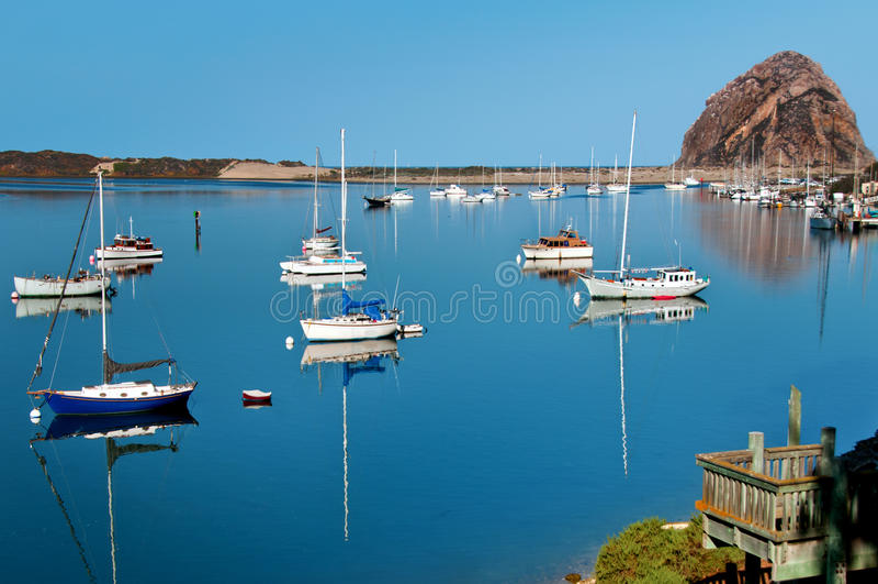 Alba sulla baia di Morro, California fotografia stock