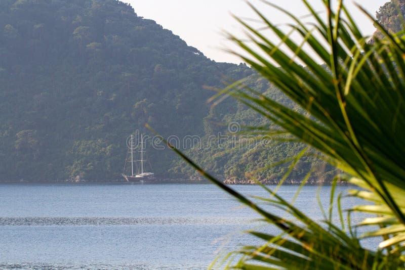 Alba sulla costa del mar Egeo La Turchia Marmaris immagini stock libere da diritti