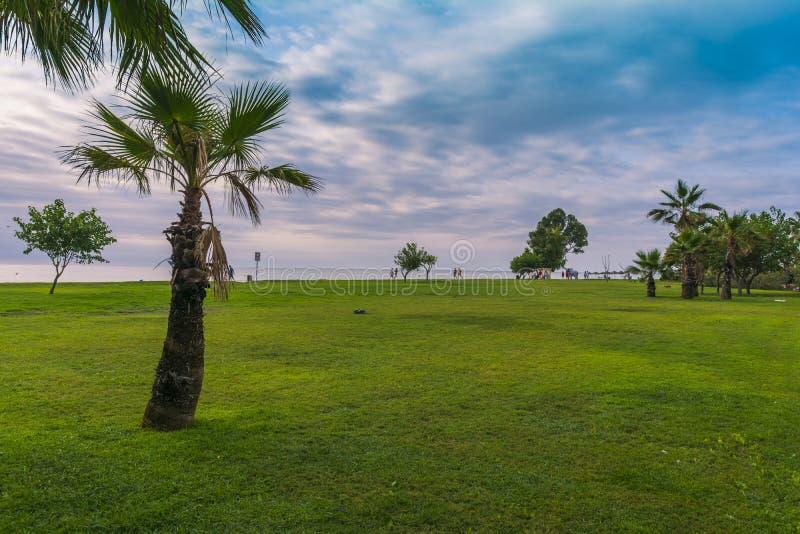 Alba sulla spiaggia in Spagna fotografie stock libere da diritti
