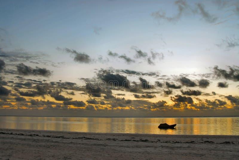 Alba a Zanzibar immagine stock