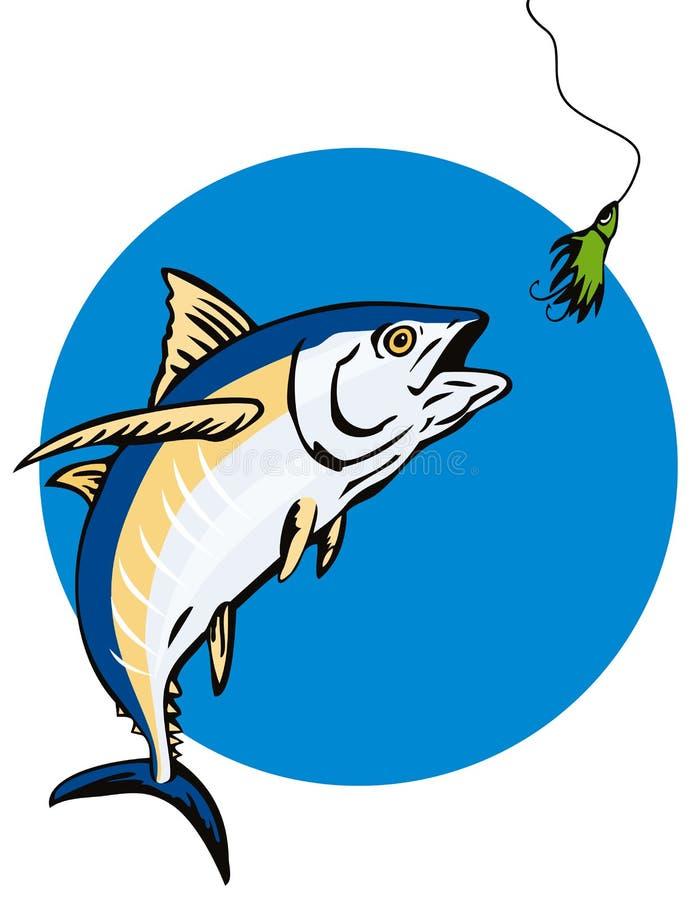 Free Albacore Tuna Taking The Bait Royalty Free Stock Image - 4945846