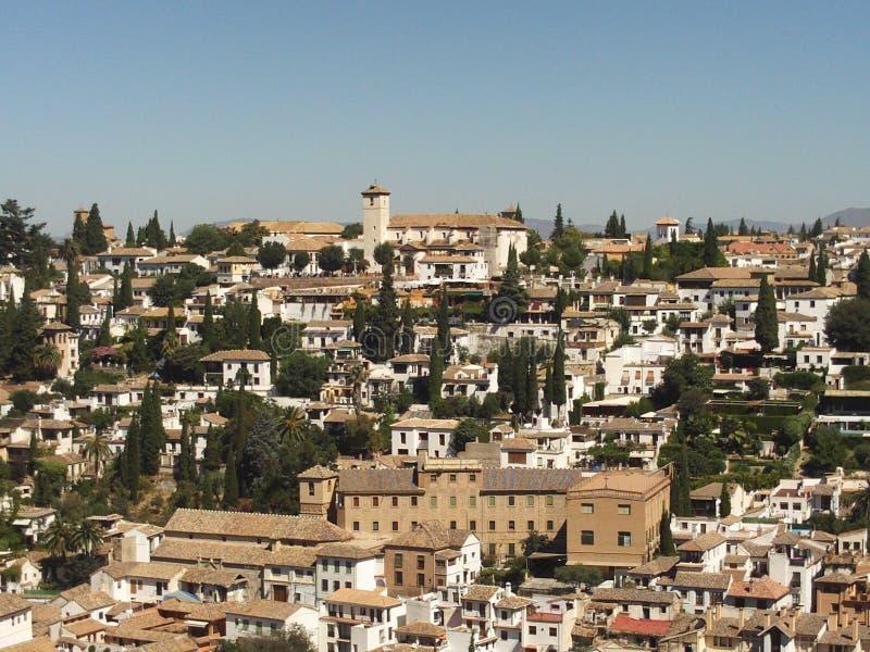AlbaicÃn, de Plaats van de Werelderfenis, Granada, Spanje royalty-vrije stock fotografie