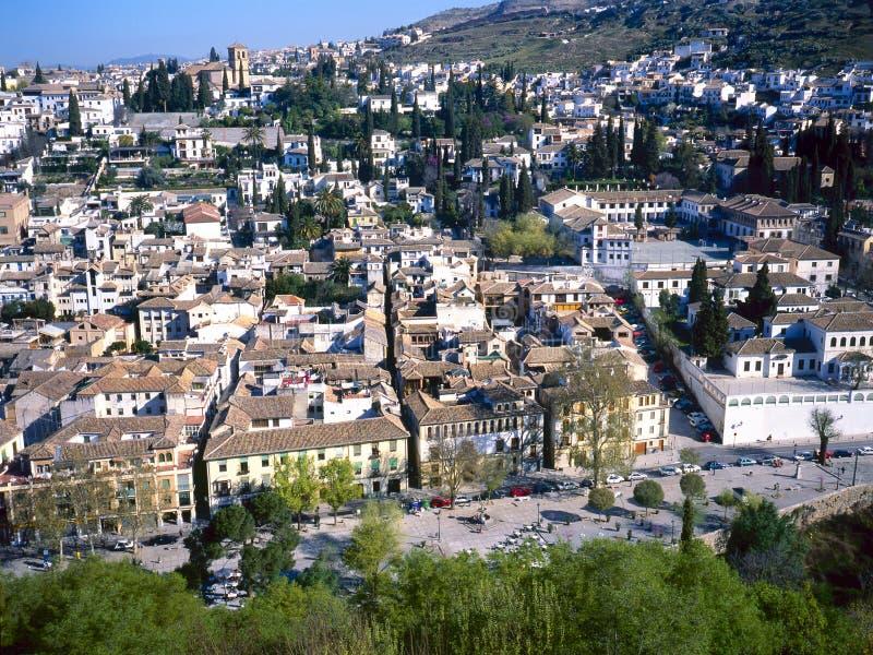 Albaicin em Granada, Spain imagem de stock