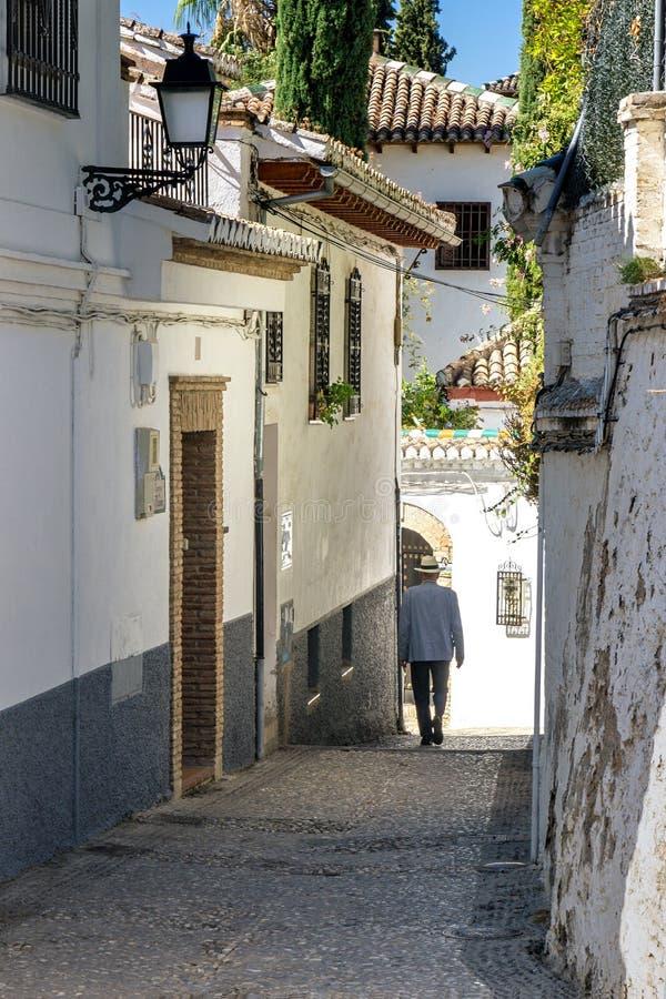 Albaicin in Granada stockfoto