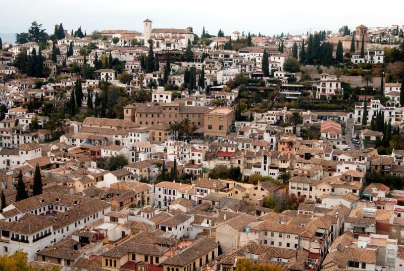 Download Albaicin neighborhood view stock image. Image of europe - 17483203