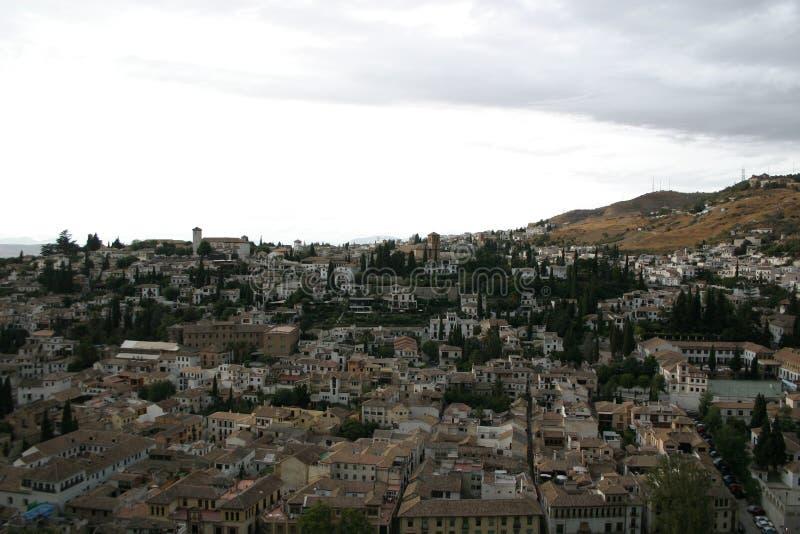 Albaicin widzieć od Alhambra zdjęcie royalty free