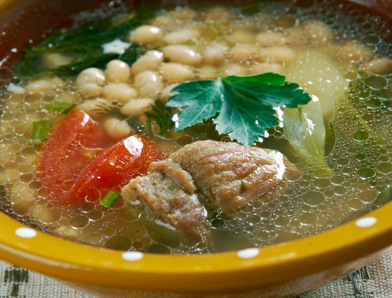 Albanês Bean Jahni Soup fotos de stock