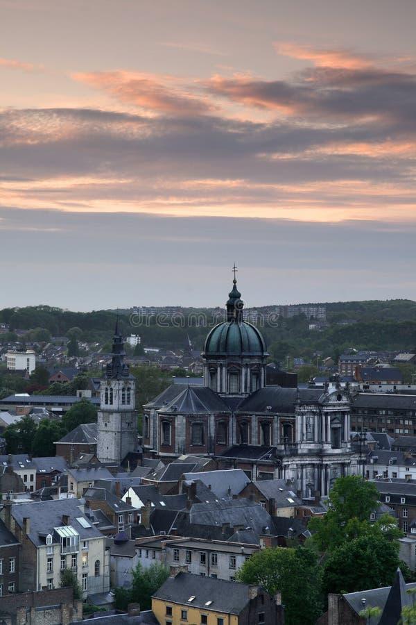 alban Belgien domkyrkanamur s st royaltyfri bild