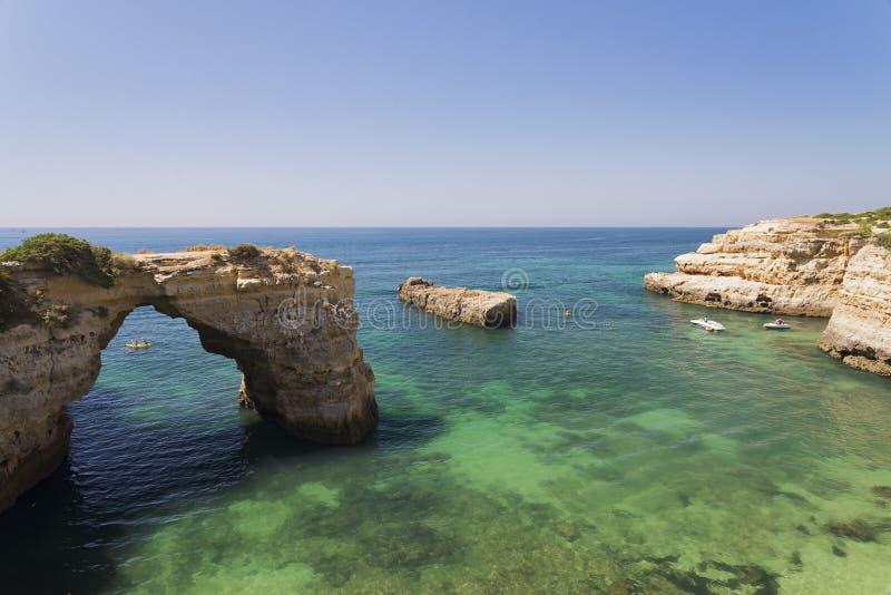 Albandeira海滩曲拱  免版税库存图片