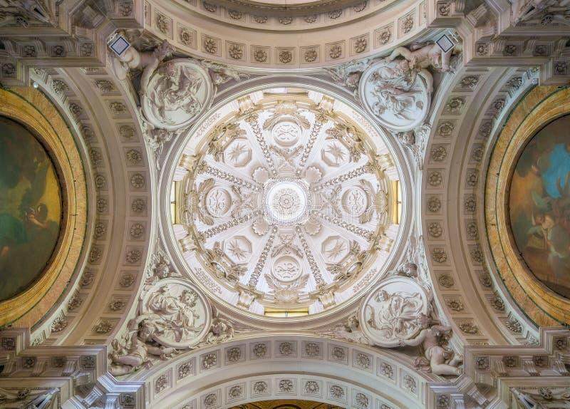 Albani Chapel in the Basilica of San Sebastiano Fuori Le Mura, in Rome, Italy. San Sebastiano fuori le mura Saint Sebastian outside the walls, or San Sebastiano stock photography