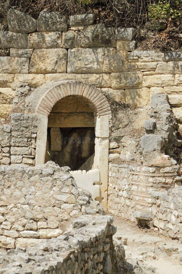 Albania, Butrint, ruiny Antyczny miasteczko fotografia stock