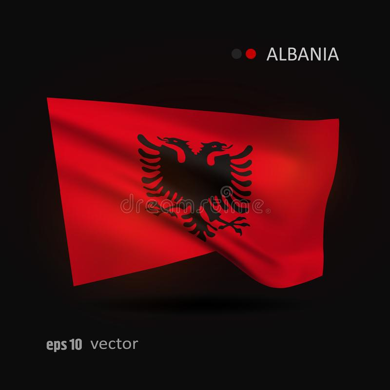 Vector flag of Albania vector illustration