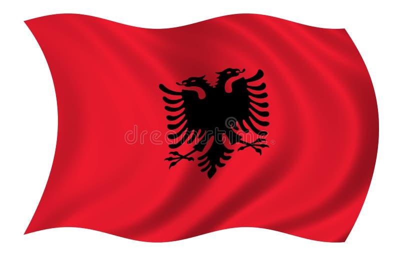 albania flaga ilustracji