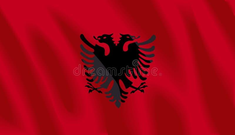 albania flaga royalty ilustracja