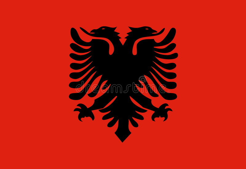 albania flagga stock illustrationer