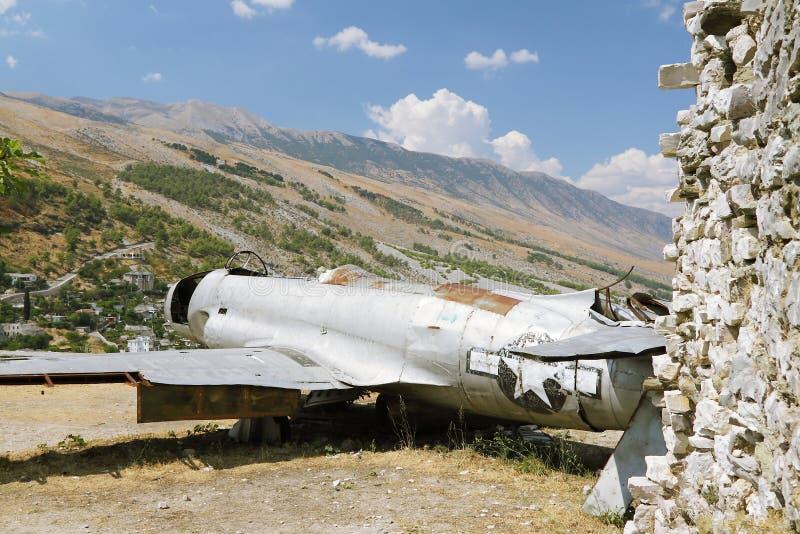Albania, Gjirokaster, Reamins Of USAF Aircraft Stock Images
