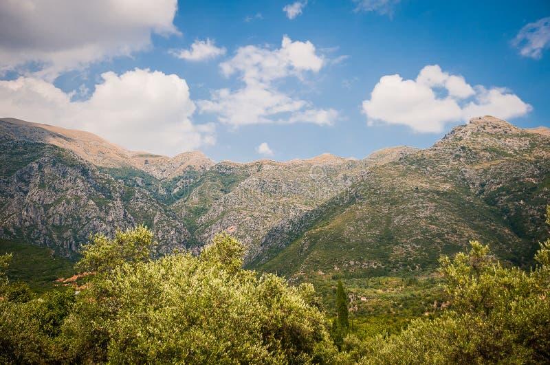 2016, Albania, Llogara National Park, Llogara Pass. Vlore county, view to the bay and beach. With a cloudy sky stock photos