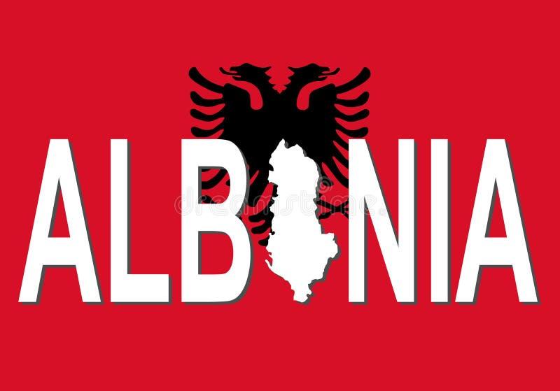 albania mapy tekst ilustracji