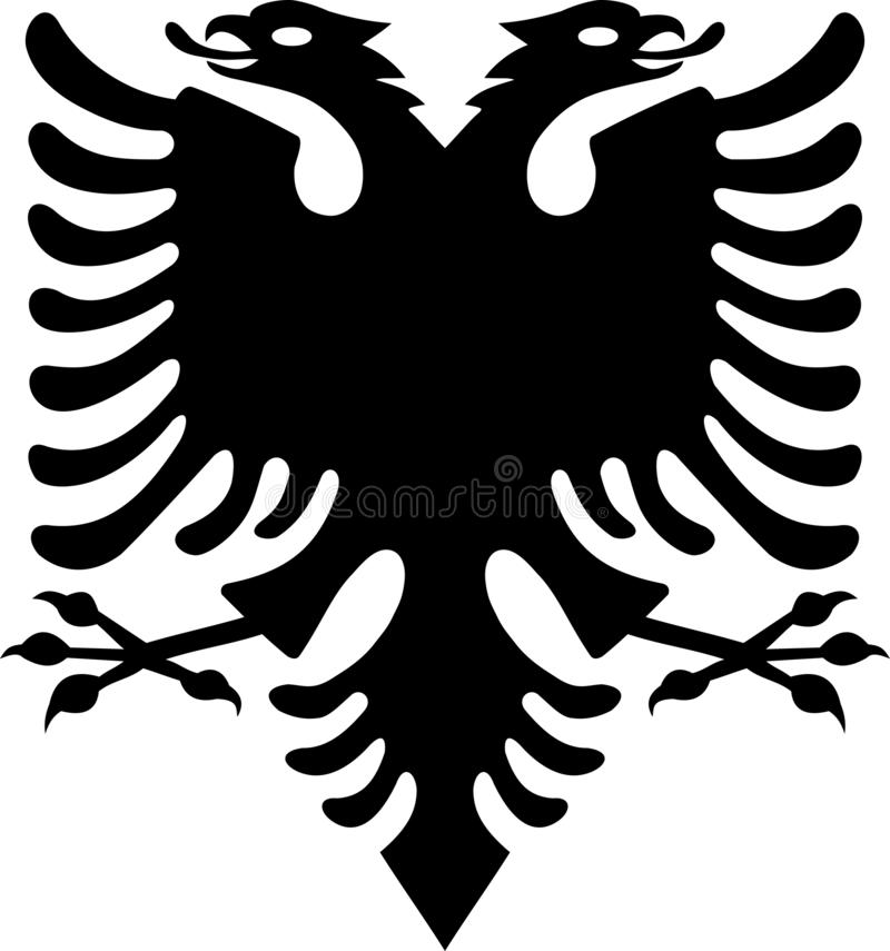 Albanian Black Eagle from Albanian Flag stock illustration