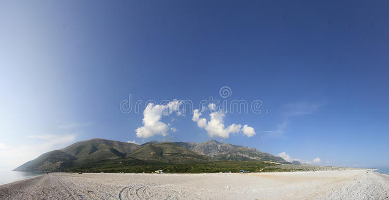Albanian Coast Landscape royalty free stock photos