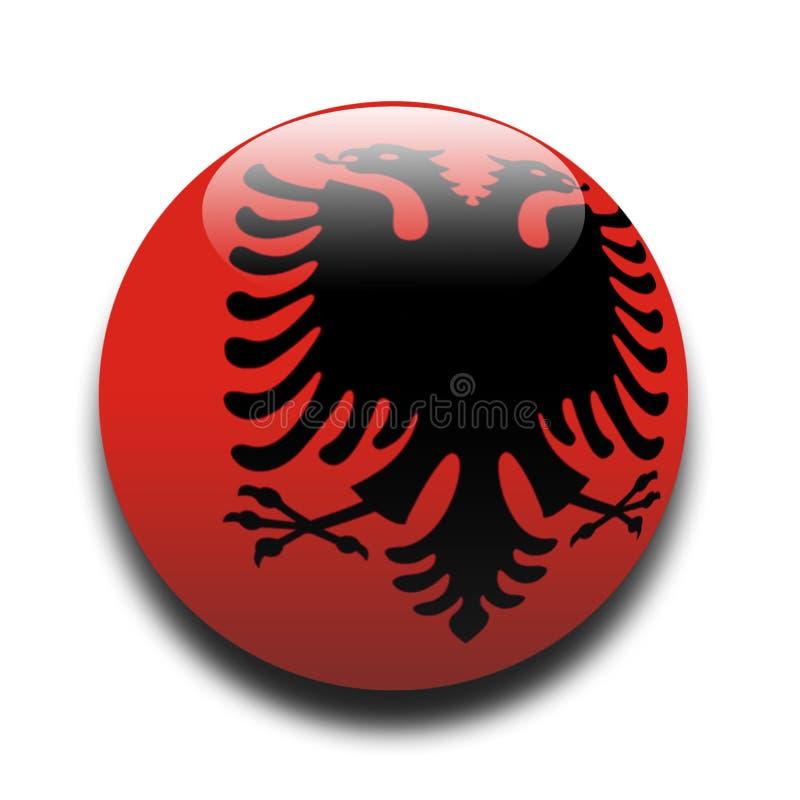 albanian flagę royalty ilustracja