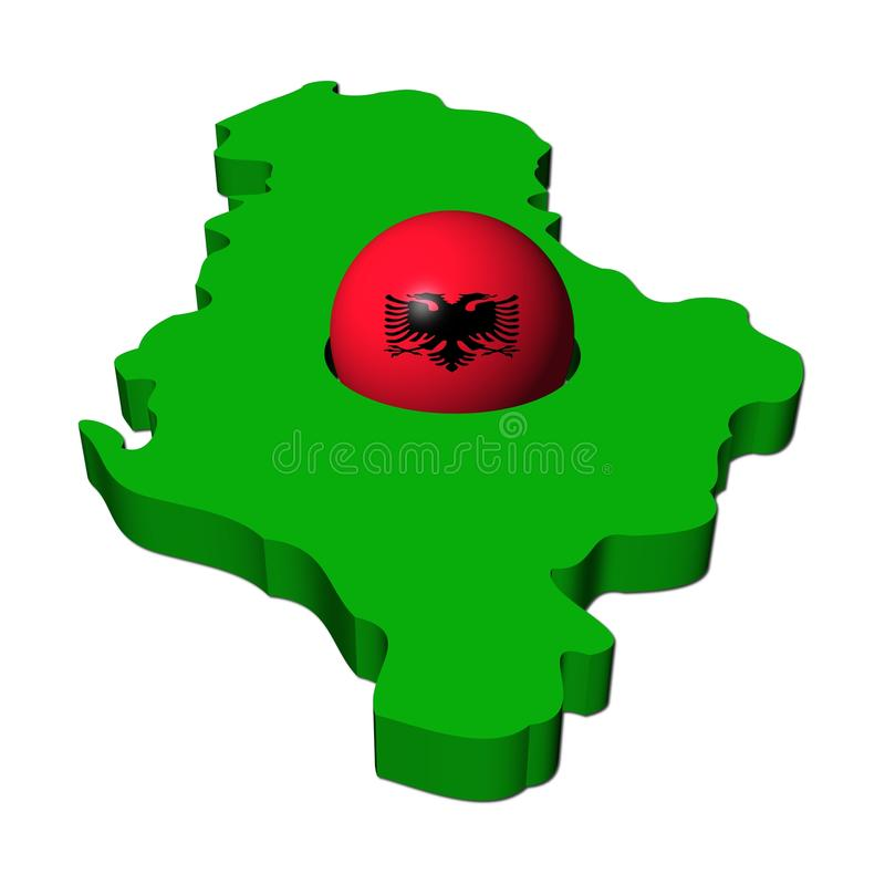 Download Albanian Flag Sphere With Map Stock Illustration - Image: 12483917