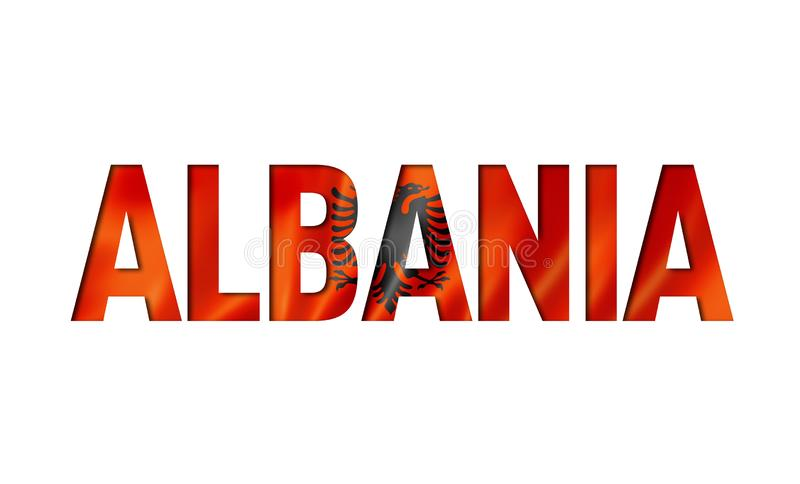 Albanian flag text font royalty free illustration