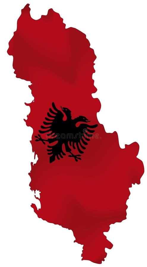 Albanien stock illustrationer