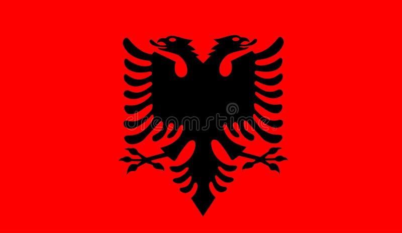 Albanien flaggavektor vektor illustrationer