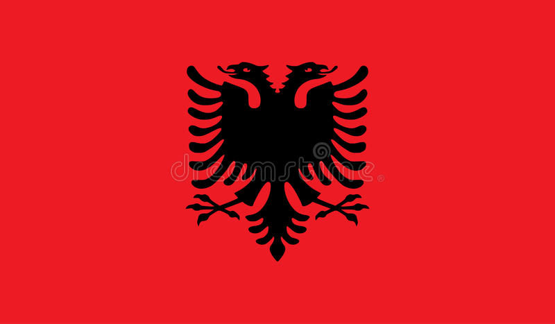 Albanien-Flaggenbild lizenzfreie abbildung