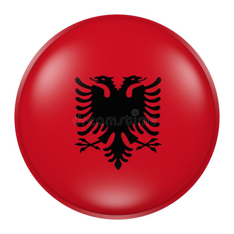 Albanien knapp royaltyfri illustrationer