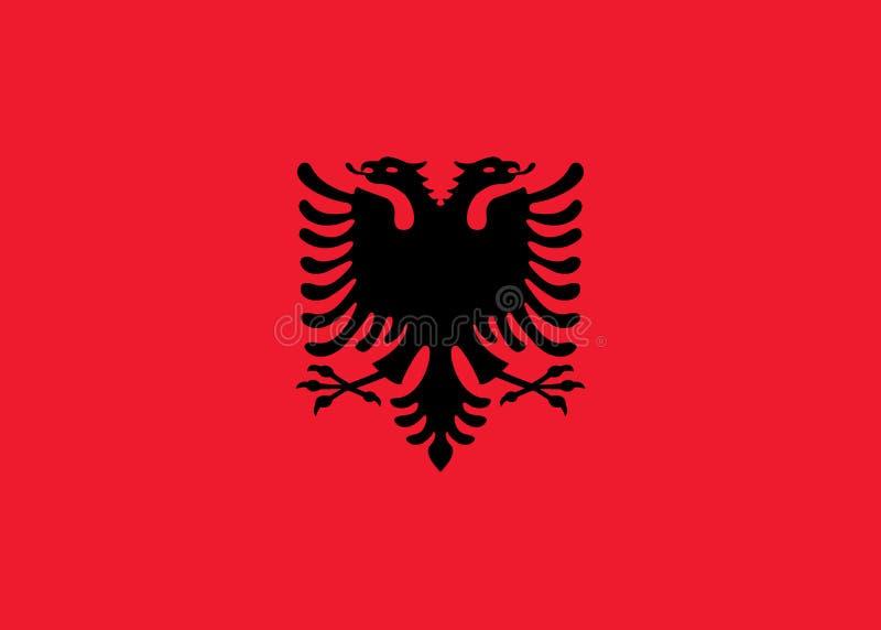 Albanien-Markierungsfahne lizenzfreie abbildung