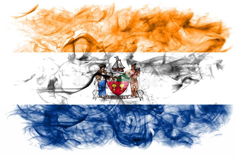 Albanien-Stadtrauchflagge, neuer Yor-Zustand, die Vereinigten Staaten von Amerika lizenzfreie abbildung
