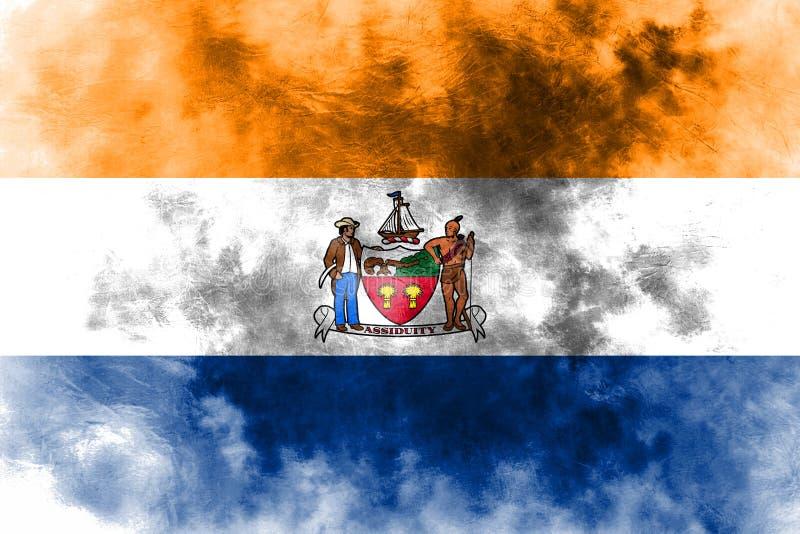 Albanien-Stadtrauchflagge, Staat New York, die Vereinigten Staaten von Amerika lizenzfreie abbildung