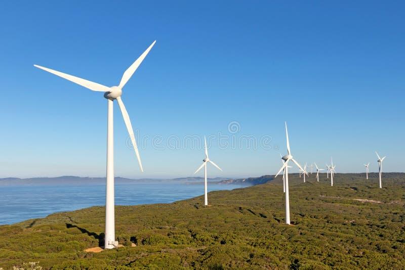 Albanien-Windpark lizenzfreies stockbild